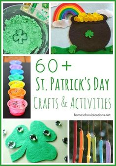 Over 60 St. Patricks Day crafts, activities, and printables #ece