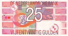 Jaap Drupsteen, 25 guilders banknote