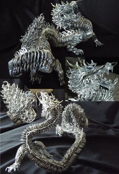 Off the Hook Astronomy: can tabistry - wow - a dragon made from can tabs!! ( now this just rocks.)