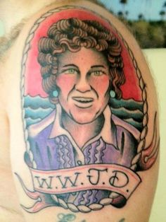 What Would Julia Do?  Sweet Paul pal, Noah Fecks just got this amazing Julia CHild tattoo!  this tat made me laught haha