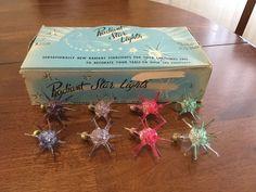 Atomic Age Radiant Star Lights Vintage Christmas Xmas   eBay