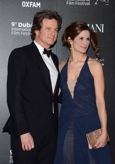 "Colin Firth and Livia Firth Photos Photos - Actor Colin Firth with his wife Livia attend the 2012 Dubai International Film Festival, Dubai Cares and Oxfam ""One Night to Change Lives"" Charity Gala at the Armani Hotel on December 14, 2012 in Dubai, United Arab Emirates. - 2012 Dubai International Film Festival, Dubai Cares and Oxfam 'One Night to Change Lives' Charity Gala"