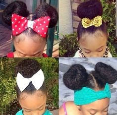 Your little girl is already cute but these cute hairstyles for black girls in 2015 with make her look even cuter. Add accessories like barrettes for styles