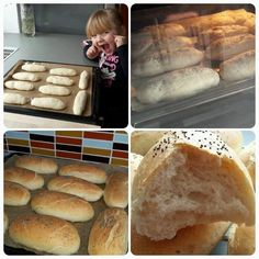 Rohlíky od p. Czech Recipes, Russian Recipes, Home Baking, Sourdough Bread, Baguette, Bread Recipes, Ham, Bakery, Food And Drink