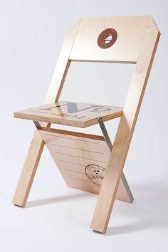 Chaise Étiquette / Label Chair By Felix Guyon , Via Behance