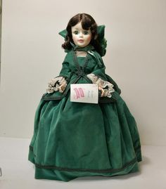 "MADAME ALEXANDER DOLL ""SCARLETT O'HARA"", GONE WITH THE WIND, VINTAGE DOLL - 21"" #DollswithClothingAccessories"