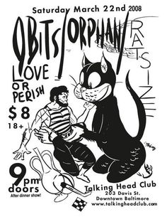 Flyer by Rick Froberg of Obits