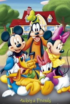 Amazon.com: Mickey Mouse and Friends New 24x36 Poster Art Print: Home & Kitchen
