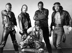 Grandmaster Flash and the Furious Five, led by the Barbados-born, Bronx-raised Joseph Saddler, have the distinction of being the first hip-hop act to gain Rock Hall honors. Besides being known for their biggest hit, 'The Message,' they're credited with coining the term 'hip-hop.' The group split up in the early '80s. Besides Grandmaster Flash (bottom front), the group included Cowboy, Melle Mel, Kid Creole, Rahiem and Scorpio.