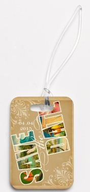 These are save the date luggage tags for a destination wedding, but would be cute as any invitation for a girl's beach tr Destination Wedding Save The Dates, Wedding Programs, Save The Date Photos, Save The Date Cards, Sister Wedding, Hawaii Wedding, Wedding Stationery, Wedding Invitations, Puppy Backpack