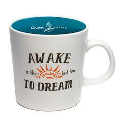 Ceramic Mug- Caribou Coffee - Awake to Dream Coffee Box, Coffee Cups, Coffee Tamper, Caribou Coffee, How To Order Coffee, I Cup, Drinkware, Ceramics, Mugs