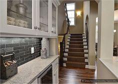 White Cabinets Black Subway Tile Amp Black Granite