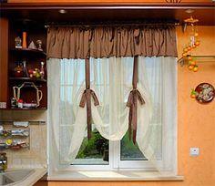 шторы в стиле кафе