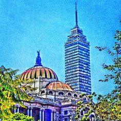 Bellas Artes y la Torre Latinoamericana. Zona Centro D.F.