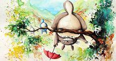 Studio Ghibli Inspired Watercolor Paintings By Louise Terrier (14 Pics) | Bored Panda