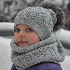 Fern Field Hat and cowl pattern by Pelykh Natalie.