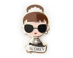 Audrey Hepburn Pin Brooch