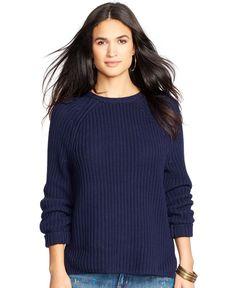 Lauren Ralph Lauren Cotton Raglan Sweater