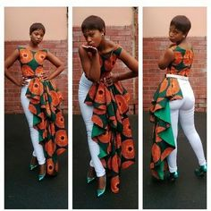 Loving this Ankara top, very different and creative. #Ankara #Creative #Africanprint #Different #Stylish #Fashion