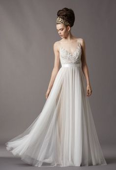 New Watters Wedding Dresses: Loads of Awesome Options for Brides Who Dont Want to Go Strapless! (Pardon the Marge Simpson Hair)