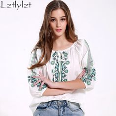 Women Tops and Blouses Summer Casual Cotton Vintage Embroidery  Half sleeve Blouse Plus size White Women Shirt Clothes