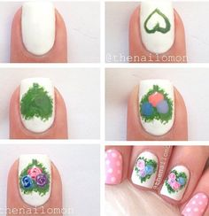 Spring nails by nailomon from Instagram | See more at http://www.nailsss.com/colorful-nail-designs/2/