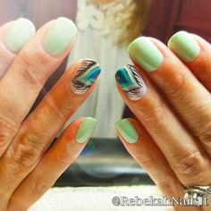 Cute And Pretty Peacock Design for Nails - Nails C