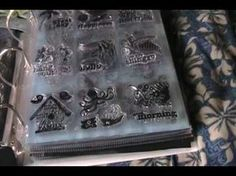 $1 clear stamp storage idea - YouTube