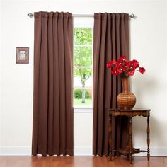 Best Home Fashion Thermal Insulated Blackout Curtains - Back Tab/ Rod Pocket - Chocolate - 52'W x 96'L - (1 Panel) * Click image for more details. (This is an affiliate link) #WindowTreatments