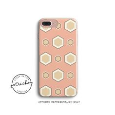 Pink hexagon iPhone Case - iPhone 7 Case - iPhone 7 Plus Case - iPhone 6 Case - iPhone 8 Case - iPhone X Case - iPhone 8 Plus Case by PetrichorCases on Etsy Iphone 8 Plus, Iphone 7 Cases, Phone Case, Iphone 6, Text Messages, New Product, Smartphone, Creative, Pink