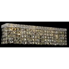 4-light crystal wall sconce in chrome finish