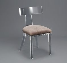 Tristan Acrylic Klismos Chair INTERLUDE HOME List Price:$1,950Lead Time:4-6 Weeks (Made to Order)