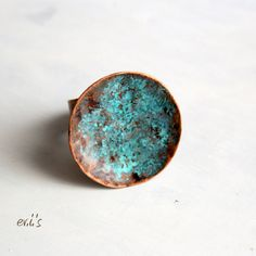 Handmade Round Circle Copper Natural Eco by EVIsMetalworkJewelry, €26.00