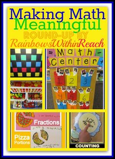 Making Math Meaningful: Building a Math Foundation RoundUP at RainbowsWithinReach