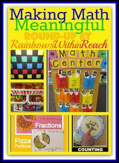 Making Math Meaningful: Building a Math Foundation RoundUP at RainbowsWithinReach