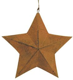 "7 1/2"" Rusty Barn Star"