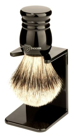 Edwin Jagger Super Badger Hair Brush with Stand - Best Shaving Brushes and Stands: Father's Day Gifts for Men