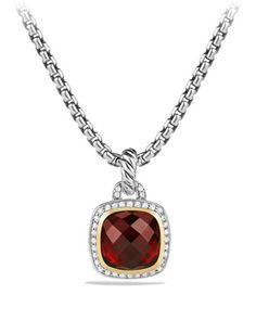 Albion+Pendant+with+Garnet+and+Diamonds+with+18k+Gold+by+David+Yurman+at+Neiman+Marcus.