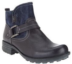 Earth Origins Leather & Suede Ankle Boots - Paris