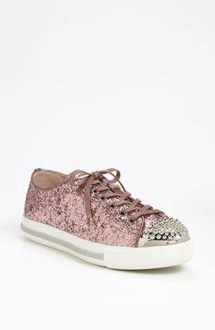 Miu Miu Glitter Cap Toe Sneaker   Nordstrom. Purpurina RosaColección De  ZapatosMiu ... a929d5f066