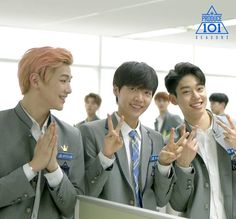 [from L to R] Kang Daniel (MMO) | Jung Se Woon (Starship) | Kim Dong Hyeon (Brand New Music)