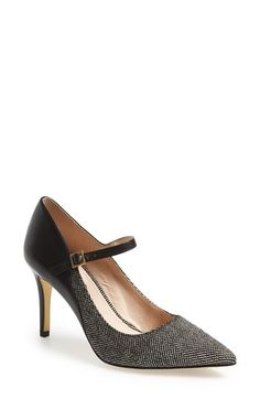 Free shipping and returns on Louise et Cie 'Ione' Mary Jane Pump (Women) at Nordstrom.com. A preppy mary-jane strap and pointy toe make this pump equal parts feminine and fierce. Contrast textures add a subtle edge that's thoroughly 21st century.