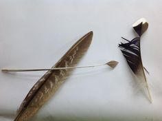 feather tool for making a diamond shape on Sorbian eggs