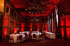 Celebrate The Month Of Love W Red Uplighting Diy Wedding