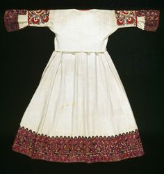 Costume, cotton dress with felt and wool overgarments and silk scarf, Greek (Attica, Keratea), Museum Number Greek Traditional Dress, Greek Dress, Greeks, Folklore, Cotton Dresses, Short Sleeve Dresses, Collections, Costumes, Summer Dresses
