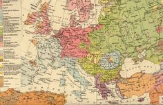 A british ethnic map of Europe 1896 #map #europe