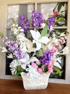 Floral Table Centerpiece - Spring Table Floral Decoration - Home Decorations - Spring Floral Arrangement - Home Accents - Mothers Day Gift on Etsy, $124.00