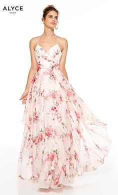 Printed Bridesmaid Dresses, Floral Prom Dresses, Floral Gown, Designer Prom Dresses, Prom Party Dresses, Flower Dresses, Pretty Dresses, Beautiful Dresses, Formal Dresses