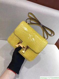 648154885 hermes constance 19 crocdile leather Bolsas Hermes, Sapatos De Hermes,  Sacos Hermes, Bolsas