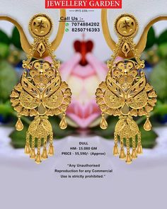 Chand Bali Earrings Gold, Gold Jhumka Earrings, Gold Earrings Designs, Gold Jewellery Design, Gold Jewelry, Jewlery, Bengali Bride, Gold Models, Gold Designs